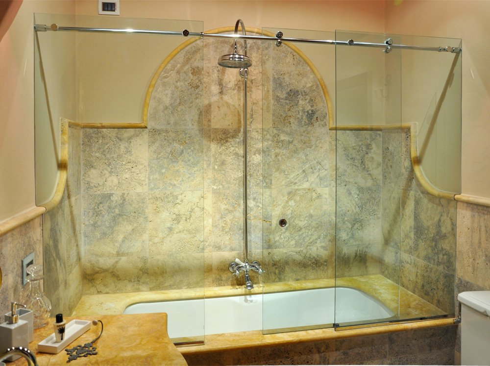 Chiusura scorrevole per vasca da bagno - Vetro vasca bagno ...